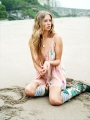 Юлия Ахонькова на пляже